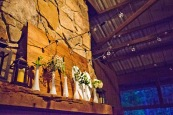 Cabin Mantle Wedding Decor
